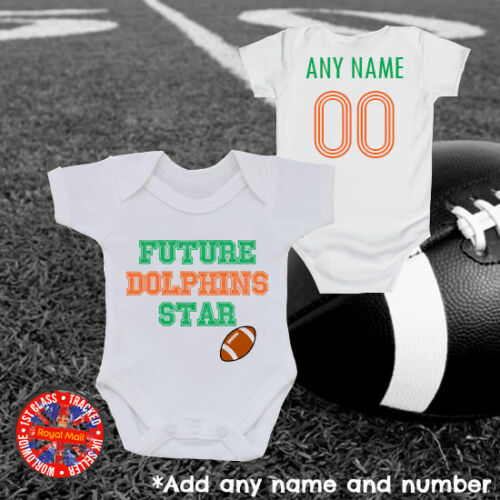 Personalised USA America Baby Grow Future Dolphins Star