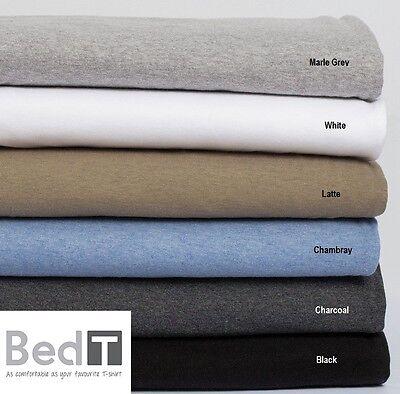 Bambury BedT Cotton Blend Jersey T-Shirt Sheet Set King Queen Double King Single
