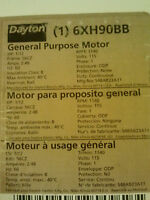 Brand Dayton General Purpose Motor 1/12 Hp 6xh90bb S48ab23a11
