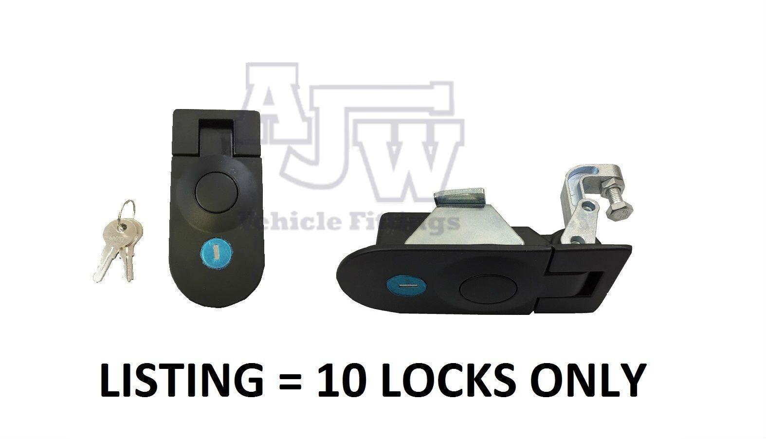 10 X Large Compresión Pestillo Cerradura Bloqueo Negro C5 Horsebox, armario, Remolque