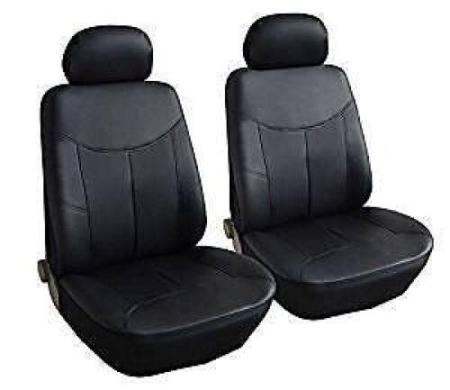 VW Caddy Delantero Par de aspecto de cuero cubierta de asiento de Coche Set 96-04