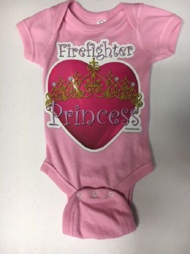 Pink Firefighter Princess One piece romper bodysuit