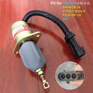 Details about Fuel Shut Off Solenoid Valve SA-4026-24 1752ES RQV-K 24V for  Cummins 5 9L 8 3L