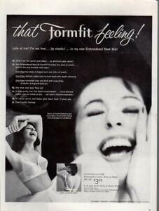 Vintage advertising print ad FASHION Formfit Feeling Rave Bra I'm Set Free 1960