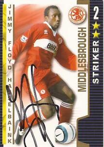 JIMMY-FLLOYD-HASSELBAINK-SIGNED-MIDDLESBROUGH-2004-2005-SHOOT-OUT-CARD-COA