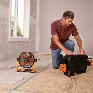 "WORX WX095L 20V 9"" Fan with battery charging capability"