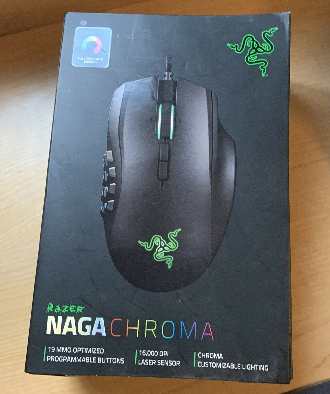 Chroma RGB Lighting Uplord Gaming Mouse Optical Sensor Mechanical Switches 1600//1200//800 6 Programmable Buttons Rubber Side Grips DPI