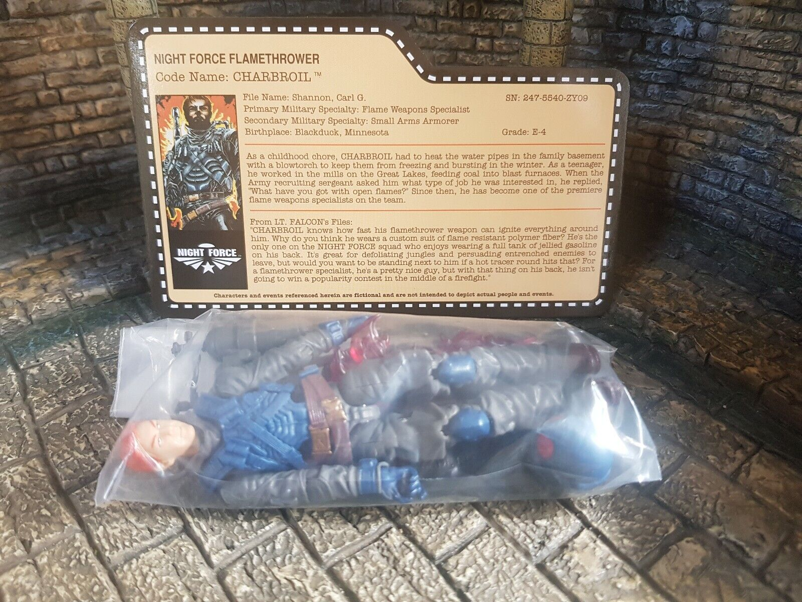 Gi joe Action Force Nocturnal Fire Charbroil Joecon Exclusive Rare