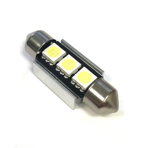 C5W 1x White 3-SMD LED Canbus Festoon 38mm 12v Interior//Number Plate Bulb