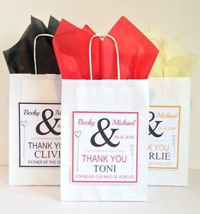 Personalised Wedding Thank You Gift Bags : Home, Furniture & DIY > Wedding Supplies > Wedding Favours
