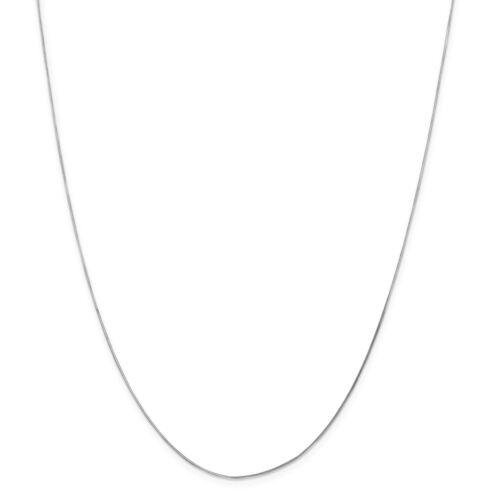 14kt or Blanc .70 mm octogonale chaîne serpent; 16 in environ 40.64 cm