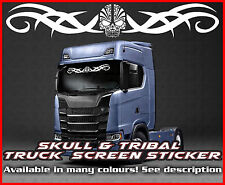 Skull Tribal Lorry Truck wind screen sticker Glass Cab Window HGV MAN DAF TGX