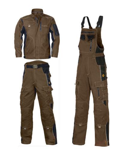 VIS-OLIV Arbeitsbekleidung Berufskleidung Arbeitshose Arbeitsjacke Latzhose