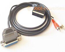 COMMODORE AMIGA 500, 600, 1200, 4000, NEW RGB 2 METRE SCART TV CABLE