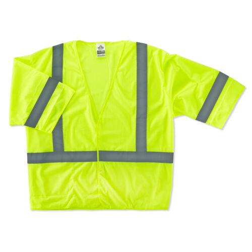 Ergodyne GloWear Class 3 Economy Reflective Safety Vest Yellow//Lime