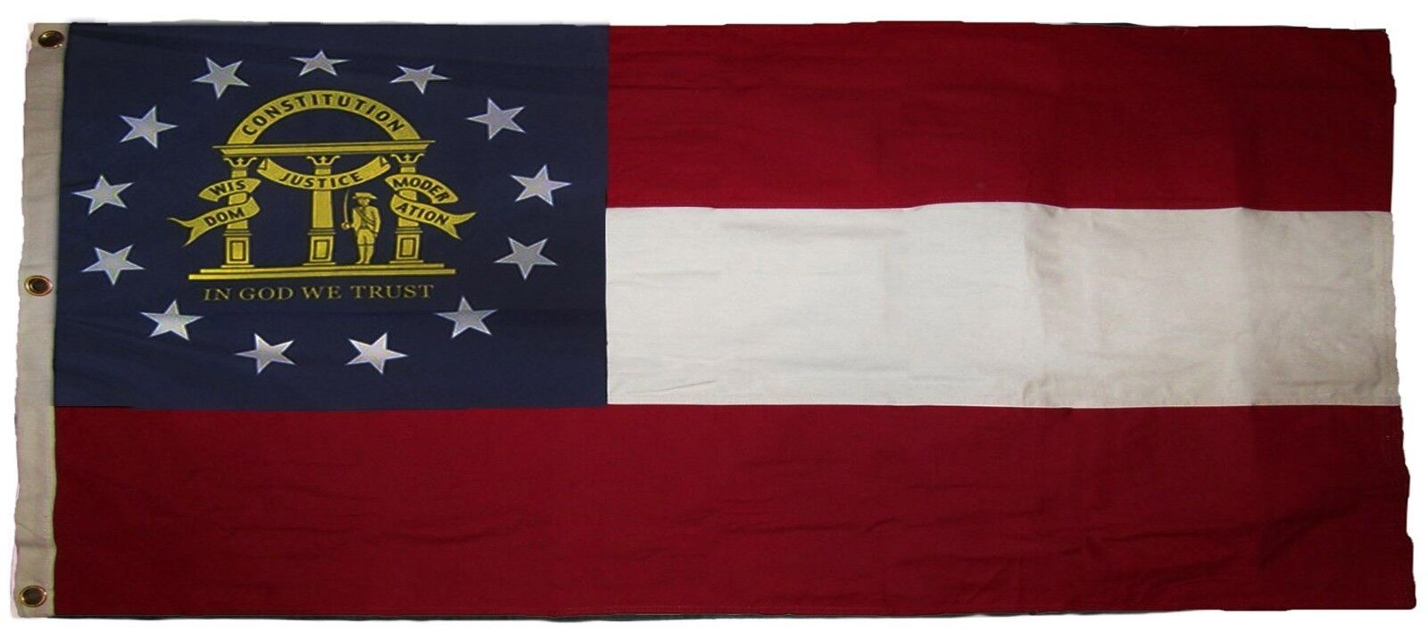 5x9.5 ft Embroiderot State of of of Georgia GA United States Cotton Casket Flag 974413