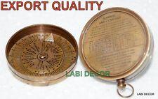 Vntage Compass Donald London 1885 Engraved Antique Brass Compass Sundial LID Cap