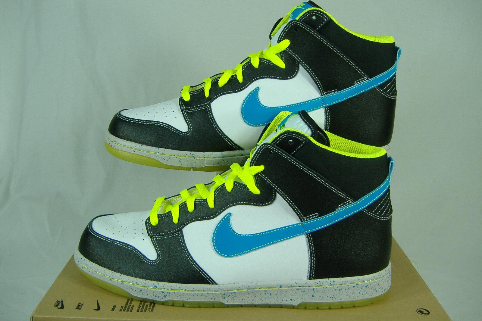 New Mens 11 NIKE  Dunk High AS PRM  White Black bluee Glow Basketball shoes  95