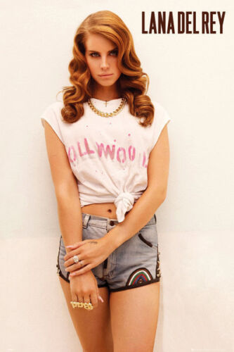 LAMINATED PICTURE PRINT NEW LANA DEL REY HOLLYWOOD T-SHIRT POSTER 61X91CM