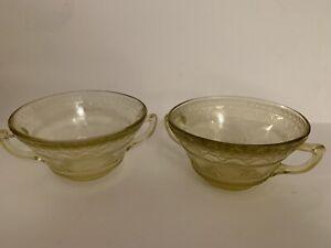 Vintage Depression Glass Federal Glass PATRICIAN pattern 2 ...
