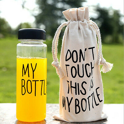 New Clear My Bottle Sport Fruit Juice Water Cup Portable 500ML Travel Bottle