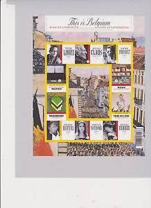 """BELGIQUE BELGIUM  BL 175 **  THIS IS BELGIUM LITERATUUR 2009 10  waarden  """"1"""" //"""