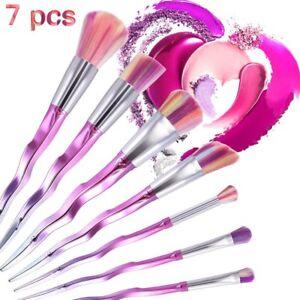7 pcs unicorn diamond make up brushes set foundation