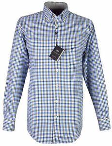 1217 cheque azul Hatton Camisa oliva 6090 casual Fynch hombre 6098 de 7gw7n18qxX