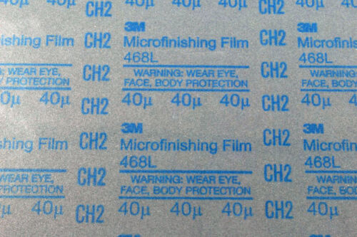 1 Sheet 3M Micro Finishing Film 40 Micron SiC PSA