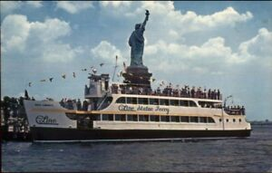 Details About New York City Statue Of Liberty Circle Line Ferry Boat Postcard