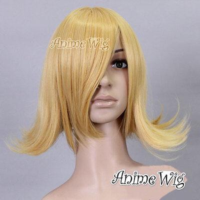 Verantwortlich Synthetisch Perücke Cosplay Gelb Gold Karneval Japanese 35cm Wellen üBereinstimmung In Farbe
