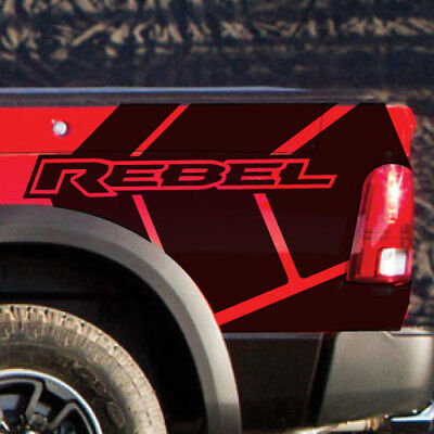2017 18 Dodge Ram Rebel Stripe Graphic Grunge Logo Truck