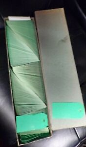 Vintage Dennison Green 2GC Hang Tags Set of 100 Heavy Cardstock Price Gift NEW!