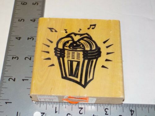 ANITA/'S JUKEBOX STAMP WOOD MOUNTED EUC USED A6097