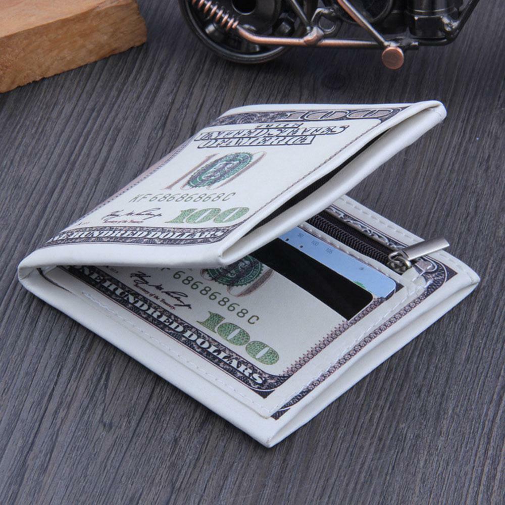 ID carte de crédit Porte-monnaie de stockage Clip Mode argent cadeau PU Wallet