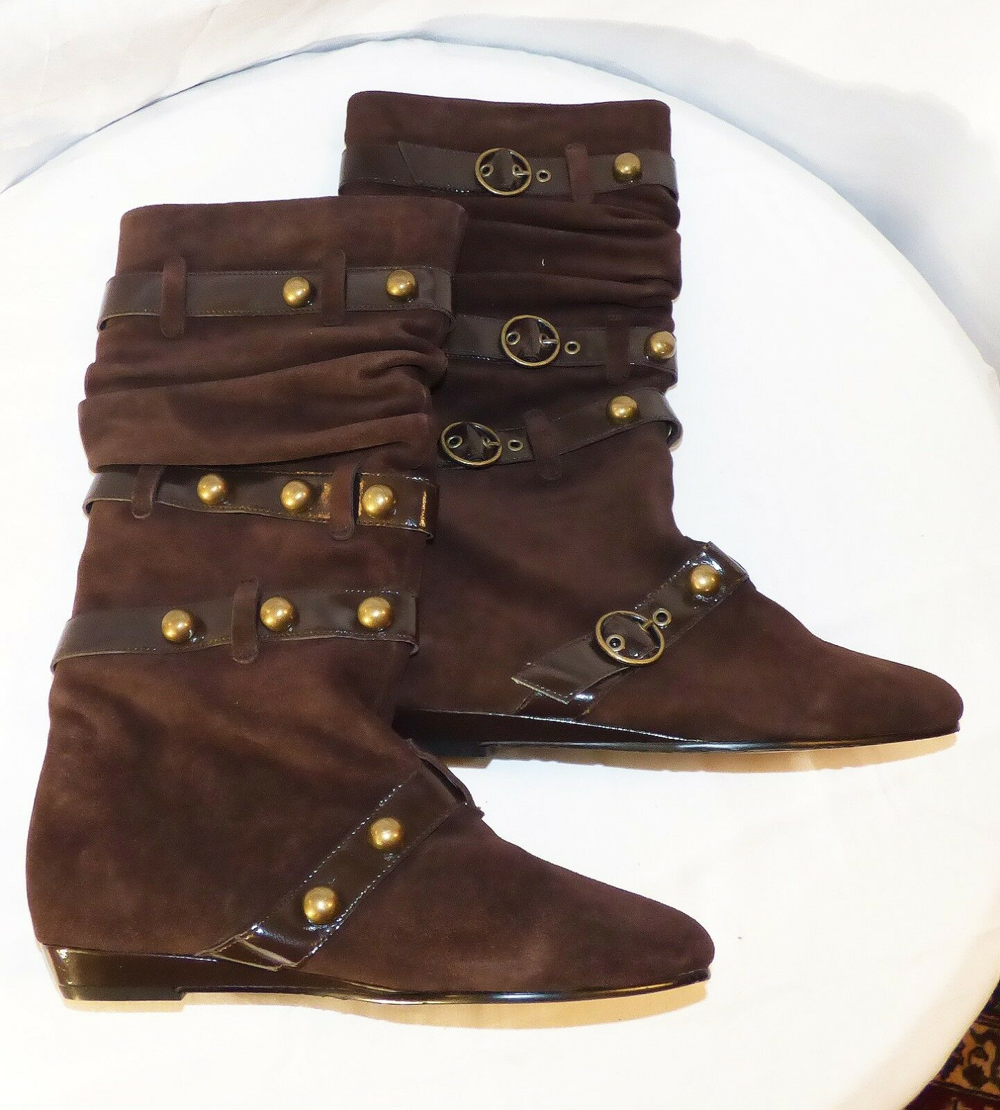 Authentic Betsey Johnson Leather Stiefel Knee High Sz 7.5 Very good NEW Condition