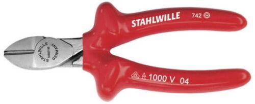 140 mm Stahlwille VDE Seitenschneider Griff tauchisoliert Zange verchromt