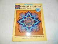Ricky Times Baskets & Flowers Rhapsody Quilts Book & Patterns Free Ship