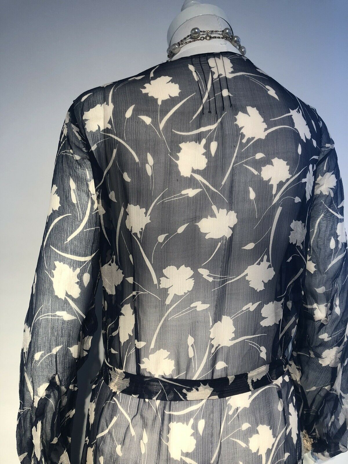 1920's Printed Silk Chiffon Dress  - image 10