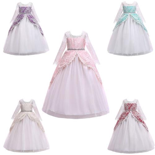 Communion Dresses for Kids Girls Princess Graduation Gowns Wedding Pageant Dress