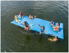 Layer Floating Oasis Water Pad Island Water Sports Mat Float Pad Teal/Blue