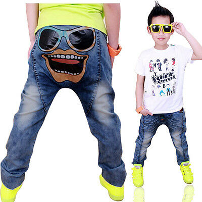 Kids Costumes Boys Girls Jeans Skinny Baby Pants Blue Denim Trousers Size 3-8