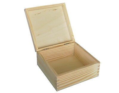 PLAIN WOOD - WOODEN STORAGE BOX JEWELLERY BIG P16