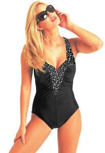 f635542e83b Carol Wior 10-0138CB V Wire Swimsuit with Control NWT