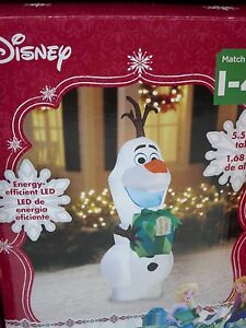 image is loading airblown inflatable olaf christmas display outdoor yard decor - Olaf Outdoor Christmas Decoration