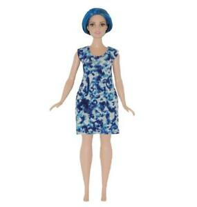 Dress made for Curvy Barbie Fashionista Doll Clothes TKCT Pink Silver foil