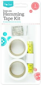 2 Pack Wonder Web Iron On Hemming Tape Roll Clothes Sewing Turn Up Hem Fusion