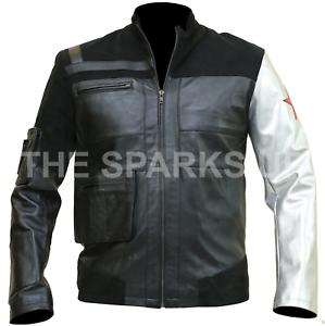 Infinity War pelle Vera Avenger Soldier Barnes Giacca Winter Bucky da nera motociclista FAxxSRn