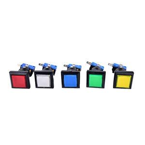 33mm-square-game-machine-push-button-arcade-LED-illuminated-push-button-DC-12V
