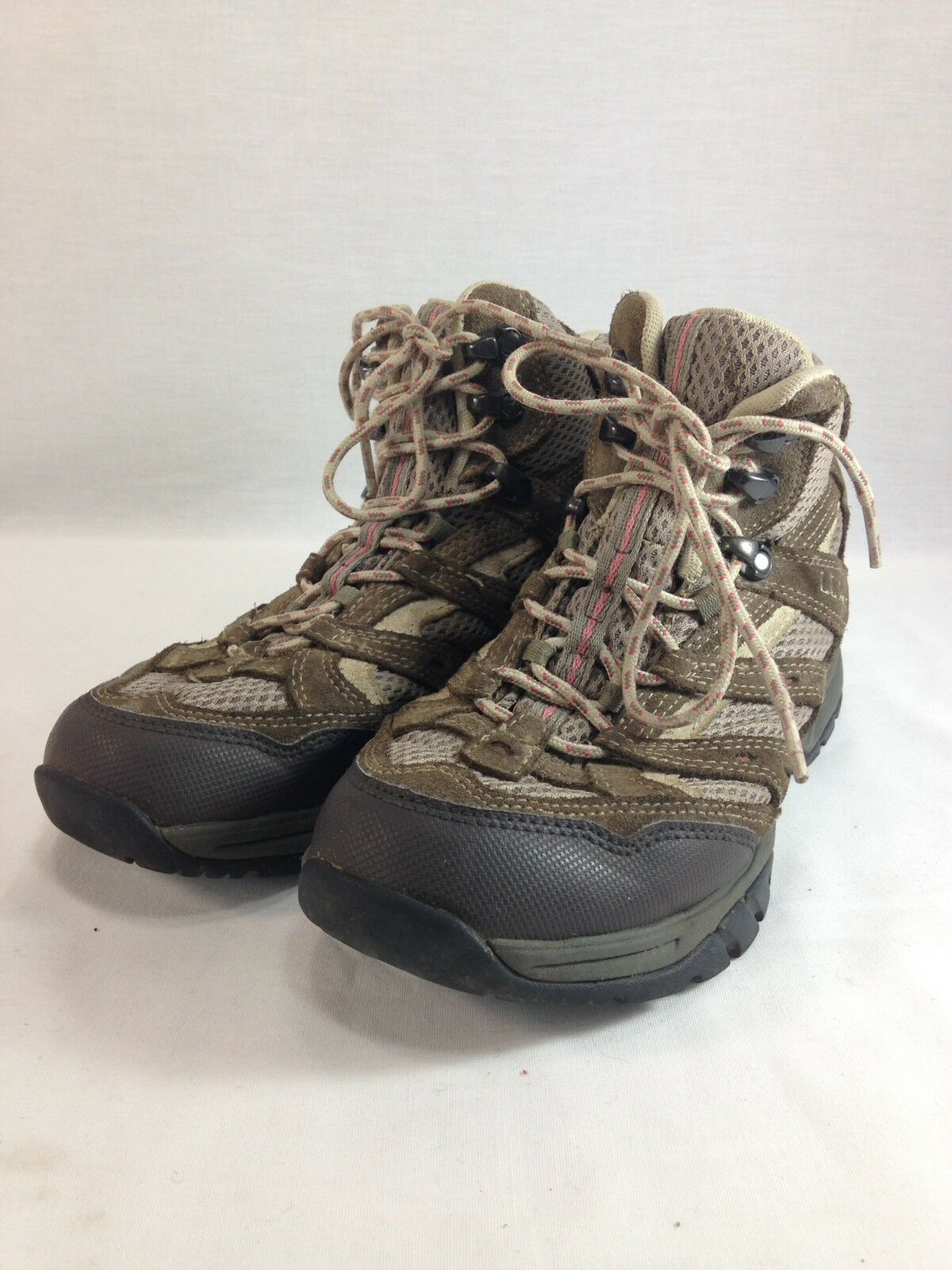 LL Bean Hiking Boots Womens 8 M Brown Pink High  Top Lace Up Trail Mountain  welcome to order